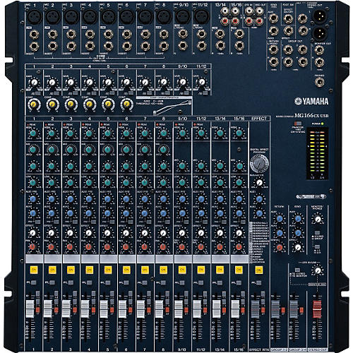Yamaha MG166CX-USB 16-Channel USB Mixer With Compression and Effects