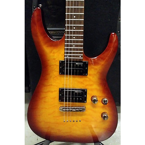 ESP MH100QMNT Solid Body Electric Guitar-thumbnail