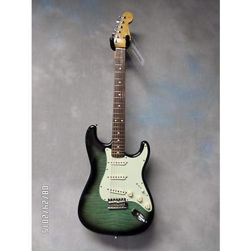 Fender MIJ PHOTO FLAME STRAT AQUABURST Solid Body Electric Guitar