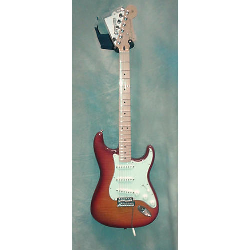 Fender MIM STRAT W\PLUS TOP Solid Body Electric Guitar-thumbnail
