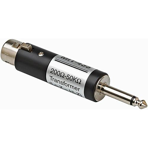 Hosa MIT435 XLR Female LO-Z to 1/4in TS Male HI-Z Microphone Input Impedance Transformer