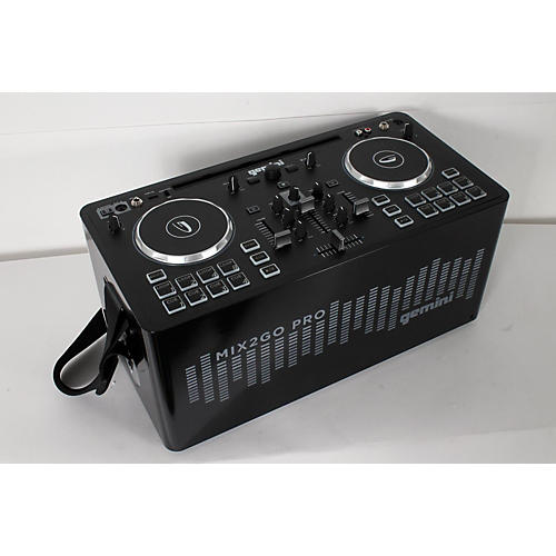 Gemini MIX2GO PRO Portable DJ Mixer with Built-in Speakers and LED Light Show-thumbnail