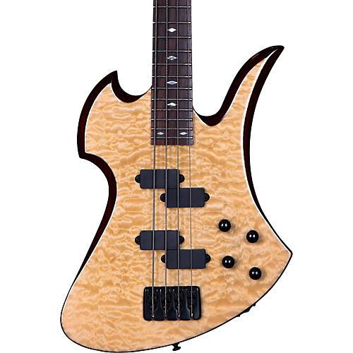 B.C. Rich MK3B Mockingbird Quilted Maple Electric Bass Guitar-thumbnail