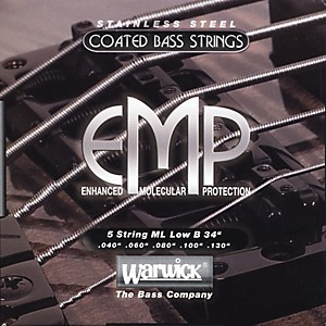 Warwick ML5B EMP COATED 5 String Bass Strings Medium Light