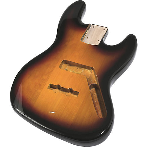 Mighty Mite MM2703 Jazz Bass Replacement Body - Burst Finish