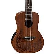 Luna Guitars MO EL Concert Acoustic-Electric Ukulele