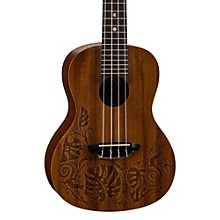 Luna Guitars MO Mahogany Concert Ukulele Level 1 Lizard Design