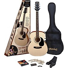 Mitchell MO100SPK Folk Acoustic Guitar Pack Natural