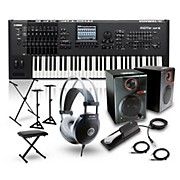 Yamaha MOTIF XF6 61-Key Music Production Synth w/ RPM3 Monitors, Stand, Headphones, Bench, & Sustain Pedal