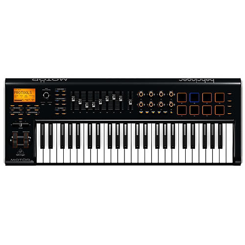 Behringer MOTÖR 49 49-Key USB/MIDI Master Controller Keyboard with Motorized Faders and Touch-Sensitive Pads