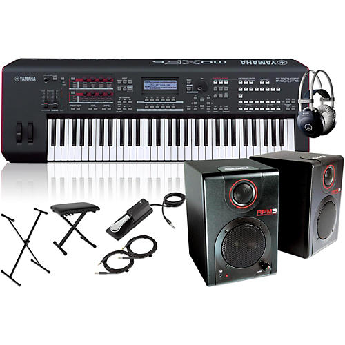Yamaha MOXF6 61-Key Semi-Weighted Synth with RPM3 Monitors, Stand, Headphones, Bench and Sustain Pedal-thumbnail