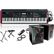 Yamaha MOXF8 88-Key Weighted Synth with RPM3 Monitors, Stand, Headphones, Bench, and Sustain Pedal