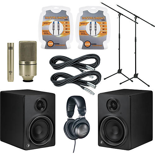 Mackie MR5mk2 Monitor and A/T Mic Package-thumbnail