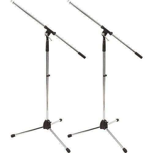 Proline MS220 Tripod Boom Microphone Stand 2-Pack Chrome