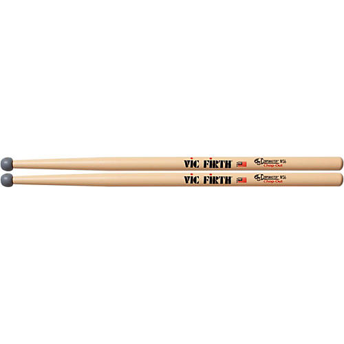 Vic Firth MS6 CHOP-OUT Rubber Tip Practice Sticks-thumbnail