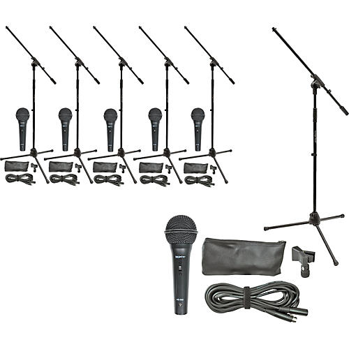 On-Stage Stands MS7510 Mic Pro & Stand Six Pack-thumbnail
