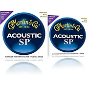 Martin MSP3050 SP 80/20 Bronze Custom Light 2-Pack Acoustic Guitar Strings