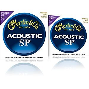 Martin MSP3050 SP 80/20 Bronze Custom Light 2 Pack Acoustic Guitar Strings