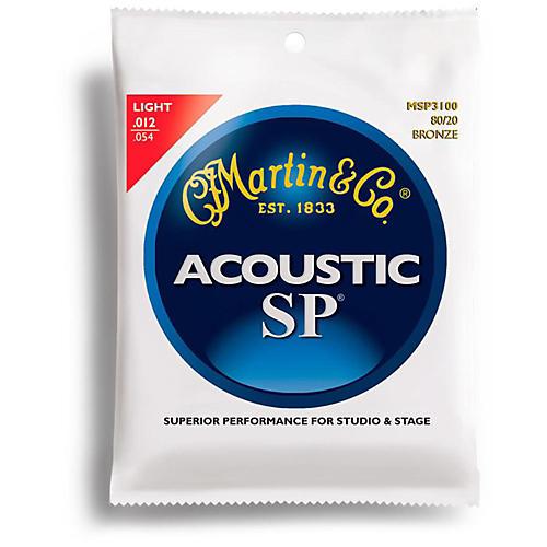 Martin MSP3100 SP 80/20 Bronze Light Acoustic Guitar Strings