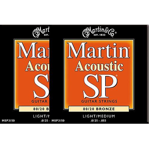 Martin MSP3150 SP Bronze Light/Medium Acoustic Guitar Strings (2 Pack)