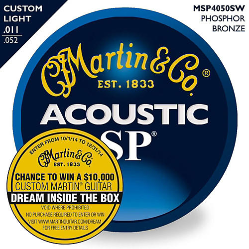 Martin MSP4050 SP Phosphor Bronze Custom Light Acoustic Guitar Strings-thumbnail
