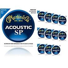 Martin MSP4200 SP Phosphor Bronze Medium 12-Pack Acoustic Guitar Strings