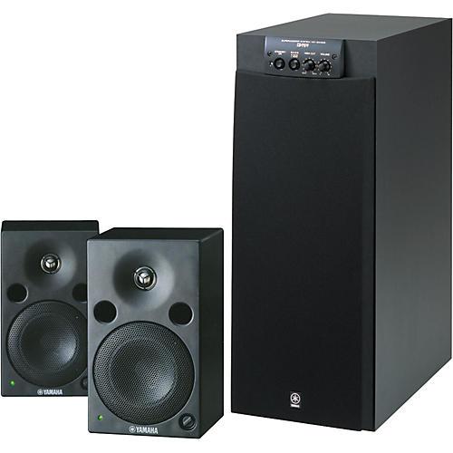 Yamaha MSP5/SW305 Powered Studio Monitors Package