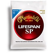 Martin MSP6200 SP Lifespan 80/20 Bronze Medium Acoustic Guitar Strings