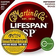 Martin MSP7050 SP Lifespan 92/8 Custom Light (11-52) Acoustic Guitar Strings