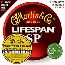 Martin MSP7050 SP Lifespan 92/8 Custom Light (11-52) Acoustic Guitar Strings
