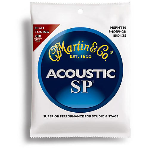 Martin MSPHT10 High Tuning Phosphor Bronze Acoustic Guitar Strings-thumbnail