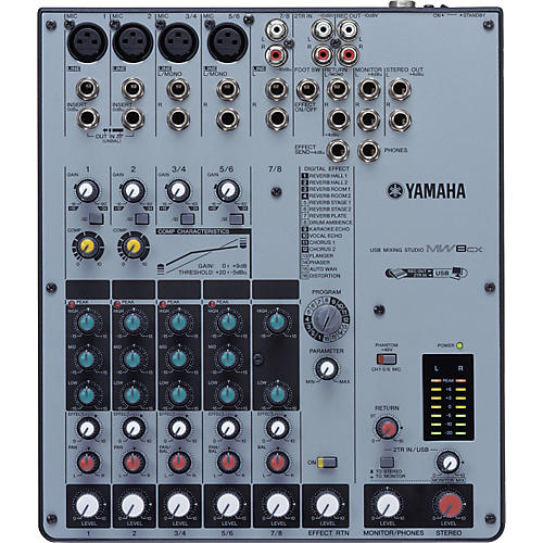 Yamaha MW8CX 8-Channel USB Mixer with Compression and FX