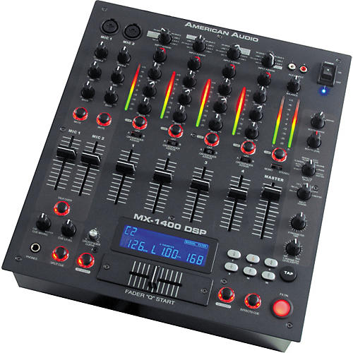American Audio MX-1400 DSP 4-Channel DJ Mixer with Effects