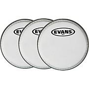 "Evans MX White Tenor Drumhead 6"" Shot 3-Pack"