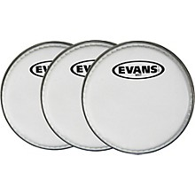 "Evans MX White Tenor Drumhead 6"" Shot 3-Pack"