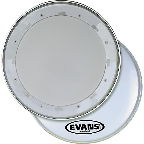 Evans MX1 White Marching Bass Drum Head-thumbnail