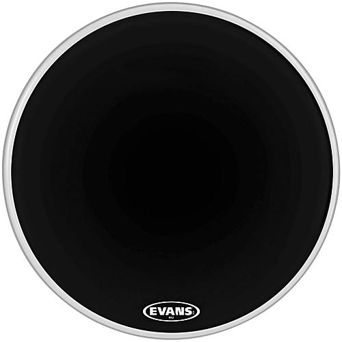 Evans MX2 Black Marching Bass Drum Head Black 28 in.