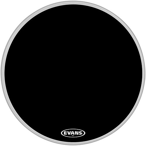 Evans MX2 Black Marching Bass Drum Head-thumbnail