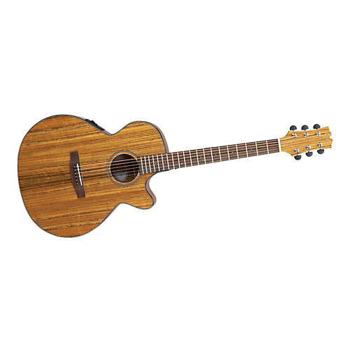 Mitchell MX400 Exotic Wood Acoustic-Electric guitar Ovangkol Trans Orange stain
