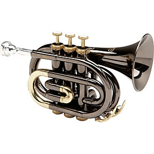 Allora MXPT-5801-BK Black Nickel Series Pocket Trumpet by Allora