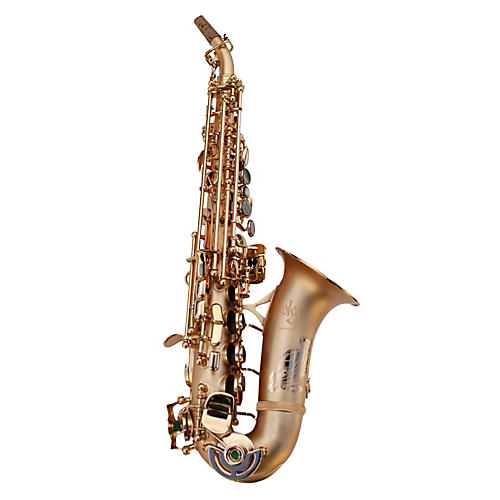 Oleg Maestro Curved Soprano Saxophone Silver Plated with Gold Keys