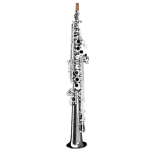 Oleg Maestro Straight Soprano Saxophone Black Nickel with Silver Keys