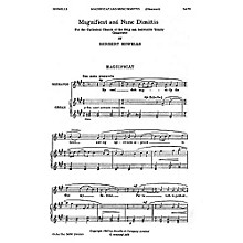 Novello Magnificat and Nunc Dimittis (Gloucester) SATB Composed by Herbert Howells