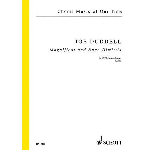 Schott Magnificat and Nunc Dimittis (SATB Choir and Organ) SATB, Organ Composed by Joe Duddell