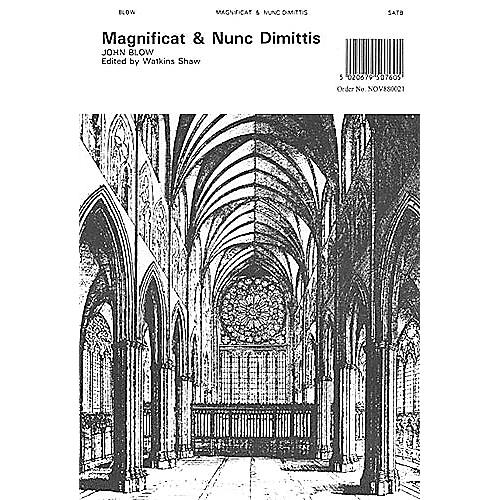 Novello Magnificat and Nunc Dimittis (Short Service No. 4) SATB Composed by John Blow