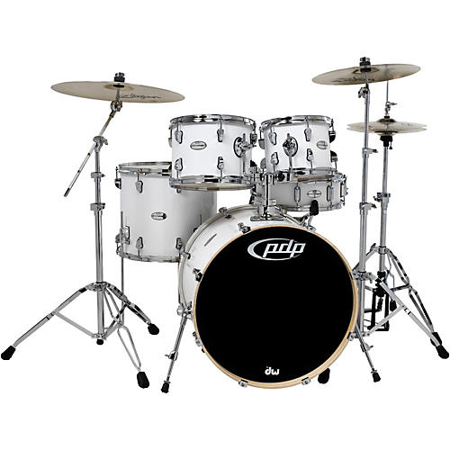 PDP Mainstage 5-Piece Drum Set with Zildjian Cymbals Gloss White