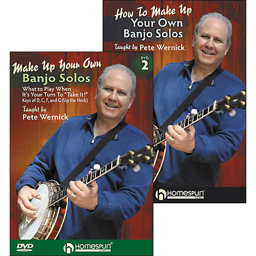Homespun Make Up Your Own Banjo Solos DVD's (1 & 2) By Pete Wernick