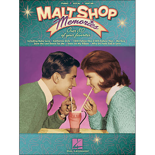Hal Leonard Malt Shop Memories arranged for piano, vocal, and guitar (P/V/G)