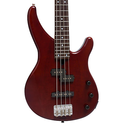 yamaha mango wood 4 string electric bass guitar root beer