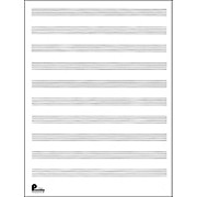 Manuscript Paper No.2 24 Double Fold Sheets, 9X12, 10 Stave, 96 Pages